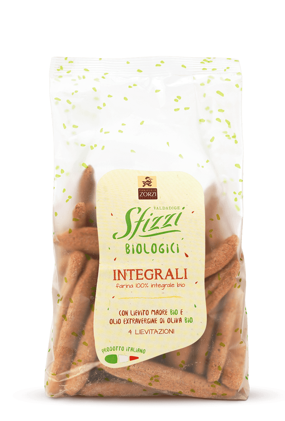 Whole Wheat Organic Sfizzi Mini Breadsticks