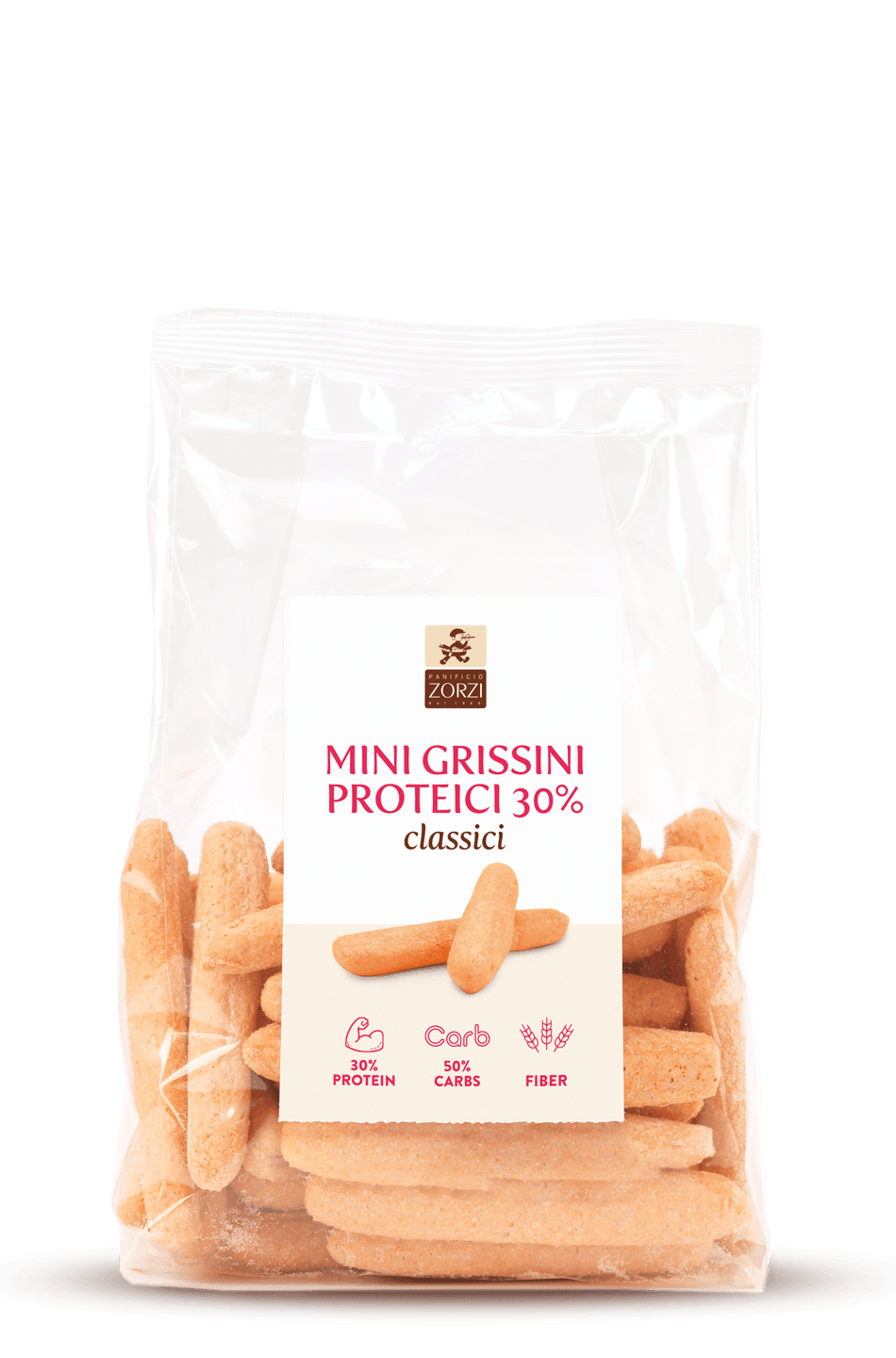Mini Breadsticks rich in protein
